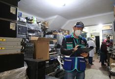 Cercado de Lima: clausuran en el Jr. Leticia tres depósitos de computadoras usadas