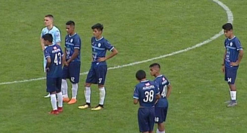 Aurora era goleado 5-0 por Bolivar en el primer tiempo, y los visitantes optaron por abandonar el encuentro. (Foto: Twitter)