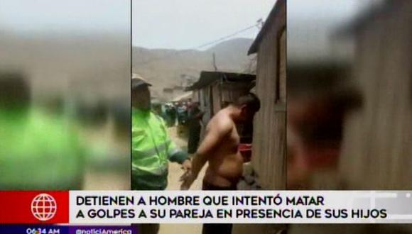 Vecinos tuvieron que intervenir para poder salvar a la mujer, quien estaba ensangrentada por la agresión. (Video: América TV)