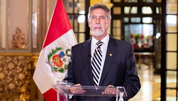 El presidente Francisco Sagasti evalúa con su gabinete la aplicación de nuevas medidas para contrarrestar el COVID-19 (Presidencia).