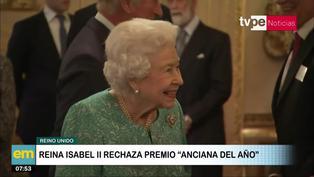 """Reino Unido: Reina Isabel II rechazó premio a """"Anciana del año"""""""