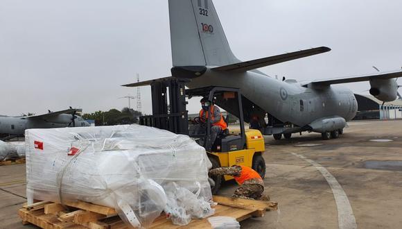 San Martín: autoridades también enviaron 80 balones de oxígeno y medicamentos, así como cerca de cuatro toneladas de equipamiento médico.