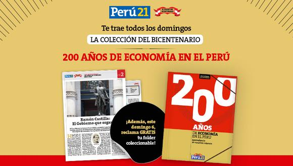 Este domingo 6 de diciembre reclama junto a la segunda entrega de la 'Colección del Bicentenario: 200 años de Economía en el Perú', tu folder coleccionable en todos los kioscos y de forma gratuita.