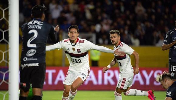 Flamengo e Independiente del Valle igualaron 2-2 por la ida de la Recopa Sudamericana. (AFP)