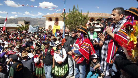 Ollanta Humala viajó a Apurímac acompañado de algunos de sus ministros. (Andina)