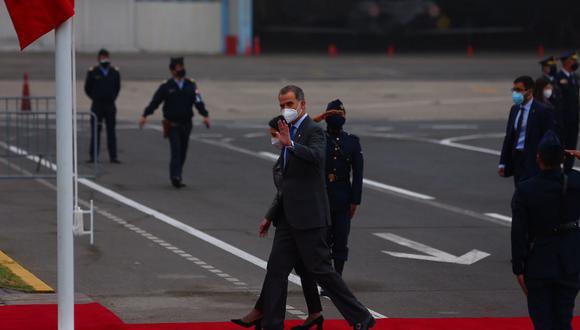 El rey de España, Felipe VI, llegó al Perú para participar de la ceremonia de toma de mando de Pedro Castillo. (Foto: Hugo Curotto / @photo.gec)