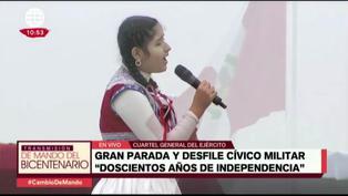 Himno Nacional fue interpretado en quechua y español en ceremonia de juramentación simbólica del presidente Castillo