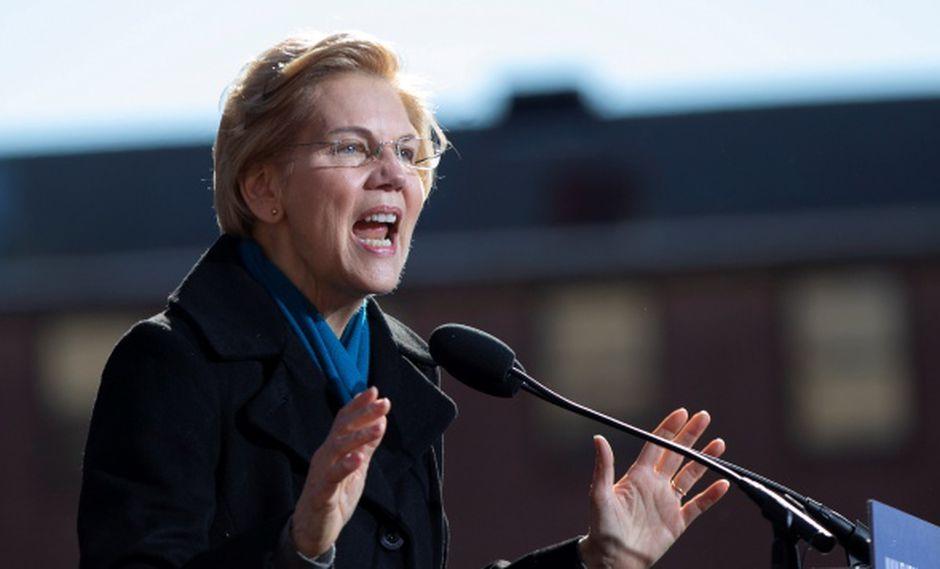 La senadora demócrata de los Estados Unidos Elizabeth Warren, de Massachusetts, anuncia su candidatura para la nominación presidencial demócrata de 2020 en Everett Mills en Lawrence, Massachusetts. (Foto: EFE)