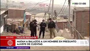 Hombre fue asesinado a balazos en Villa El Salvador