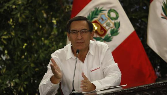 Martín Vizcarra ofreció una conferencia de prensa hoy 30 de junio.