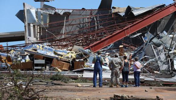 Los efectos de la catástrofe. (AFP)