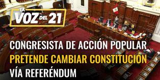 Congresista de Acción Popular pretende cambiar la constitución vía referéndum