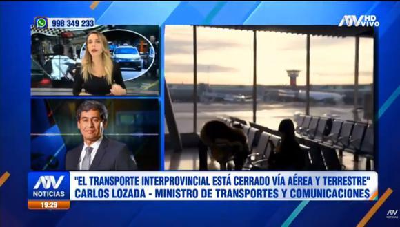 Ministro de Transportes y Comunicaciones indicó que vuelos internacionales se reactivarán en la última fase. (Foto: captura de pantalla)