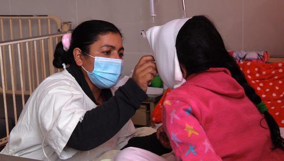 Cajamarca: operan con éxito el rostro de niña que quedó desfigurada tras caerle ladrillos (Foto difusión)