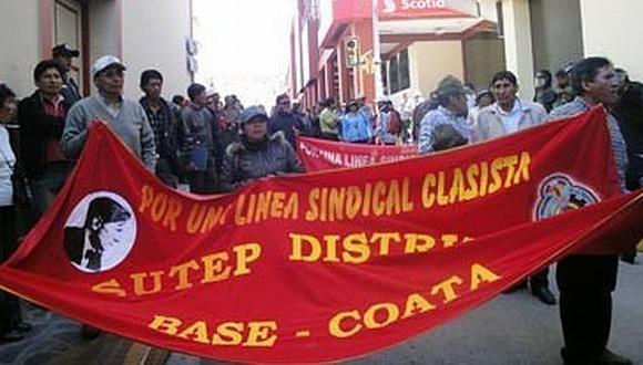 El Movadef estaría detrás de las protestas (LosAndes.com.pe)