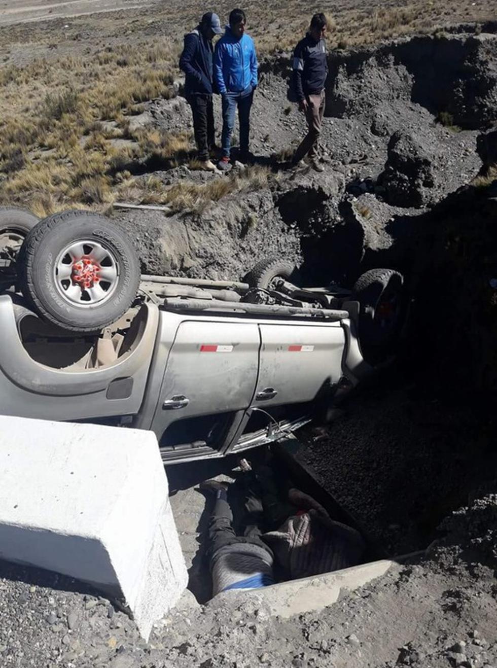 Accidente ocurrió en la carretera Sandia-Juliaca, Puno..