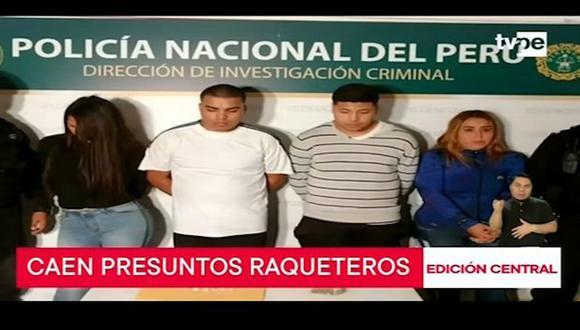 Los delincuentes estaban acompañados de dos mujeres, quienes alegaron ser inocentes. (TV Perú)