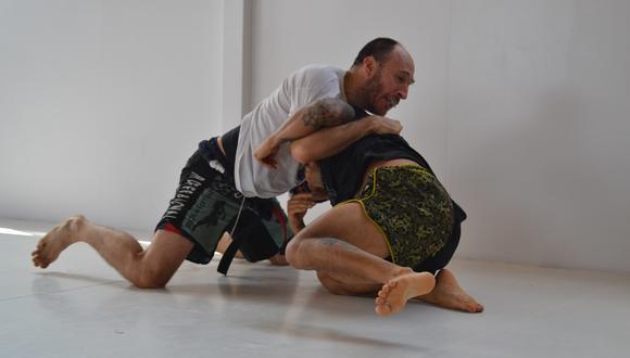 Entrenamiento en Sniper JiuJitsu con Luis Candiotti. (Foto: Alexis Espinoza/Sniper)