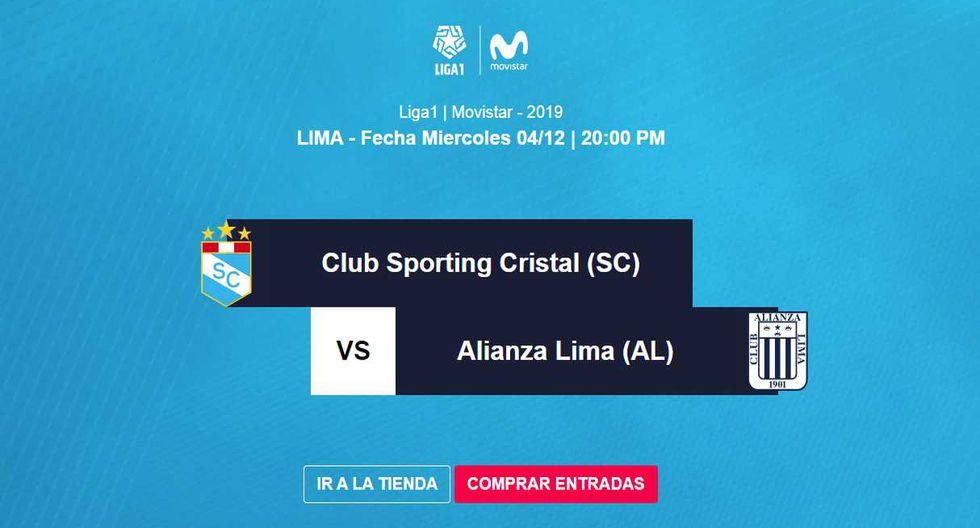 La evnta de entradas para el Sporting Cristal vs. Alianza Lima arrancó este viernes. (Foto: Joinnus)