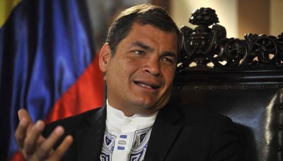 INCIDENTE SUPERADO. Presidente ecuatoriano consiguió también el relevo del embajador peruano. (AFP)