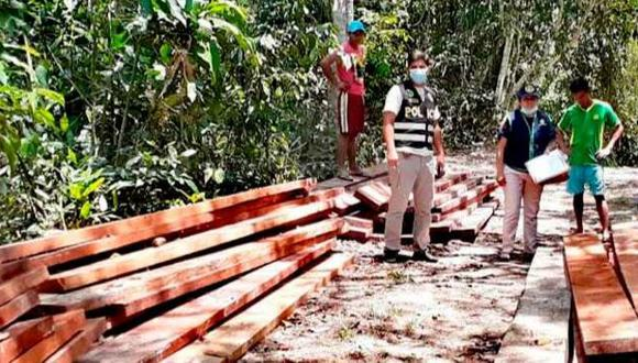 Loreto: inmovilizaron 6000 mil pies tablares de madera de origen ilegal (Foto: Ministerio Público).