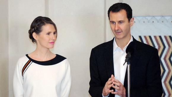 El presidente de Siria, Bashar al Asad, y su esposa Asma dieron positivo a coronavirus y se mantienen en cuarentena (Foto: AFP).