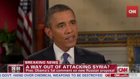 Obama dijo que propuesta de Rusia sobre Siria es positiva.  (CNN)