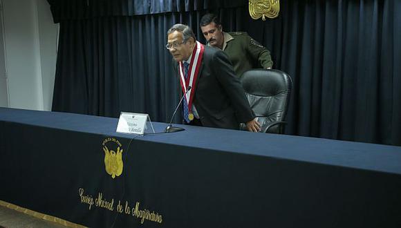 Máximo Herrera, titular del Consejo Nacional de la Magistratura, se pronunció. (USI)