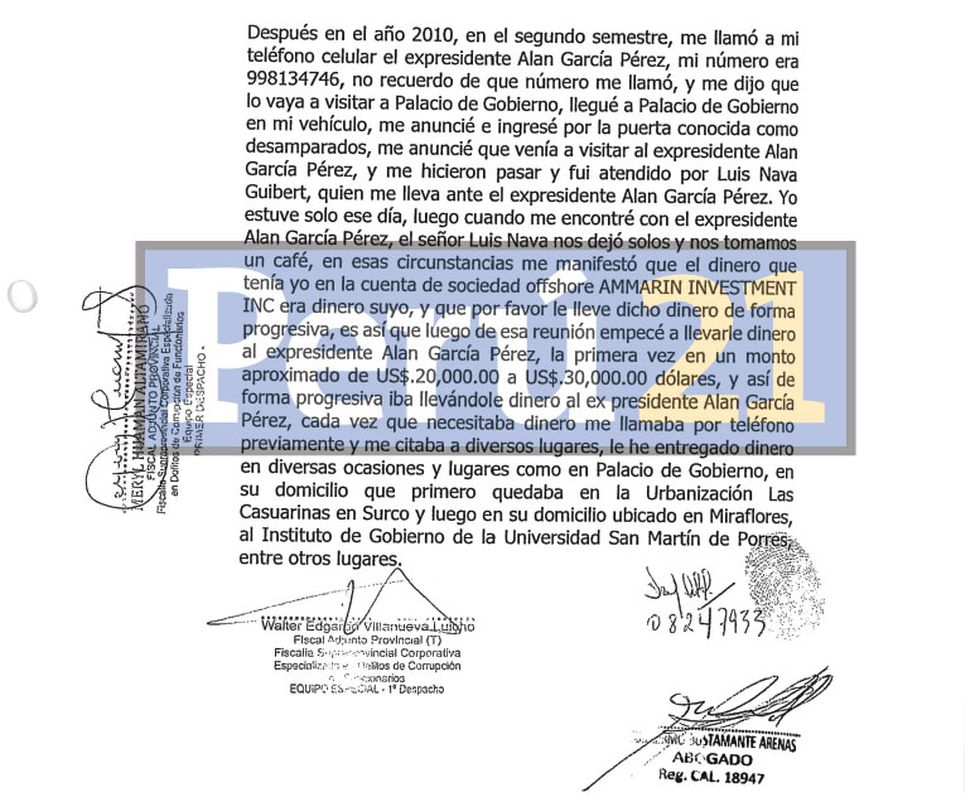 Confesiones. Atala declaró en dos fechas distintas: el 26 y el 29 de abril. Perú21 tuvo acceso a su manifestación. (Perú21)