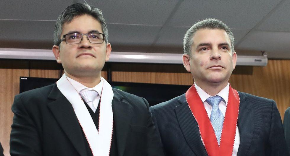 Rafael Vela y José Domingo Pérez en conferencia de prensa defendieron sus puestos en caso Lava Jato.