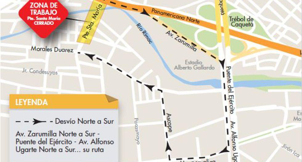 El viaducto permitirá una conexión directa entre la Av. Zarumilla (vía auxiliar de la carretera Panamericana Norte) con la Av. Morales Duárez.