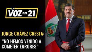 """Ministro de Defensa Jorge Chávez: """"No hemos venido a cometer errores"""""""