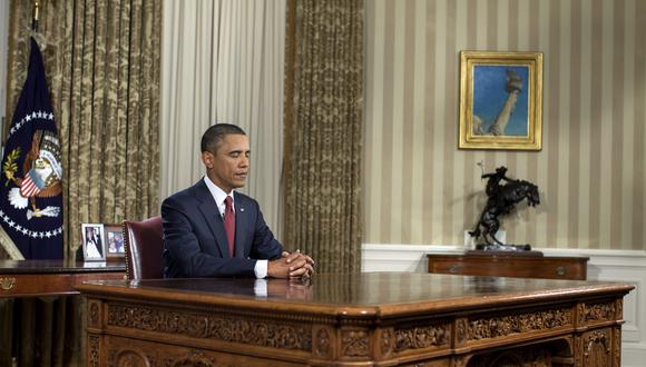 El presidente Barack Obama se prepara para pronunciar un discurso a la nación desde la Oficina Oval al final de la misión de combate en Irak, el 31 de agosto de 2010. (Foto: Pete Souza/The White House)