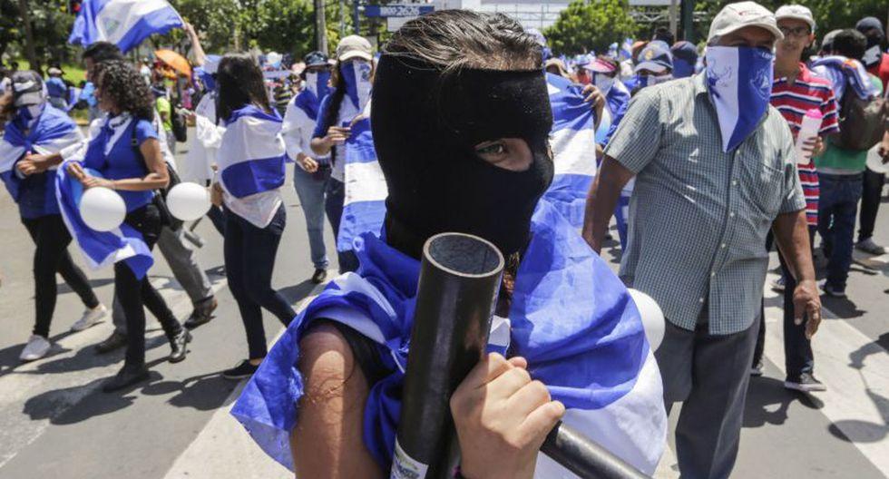 Denuncian dos heridos en presunto ataque a manifestantes al norte de Nicaragua. | Fuente: AFP