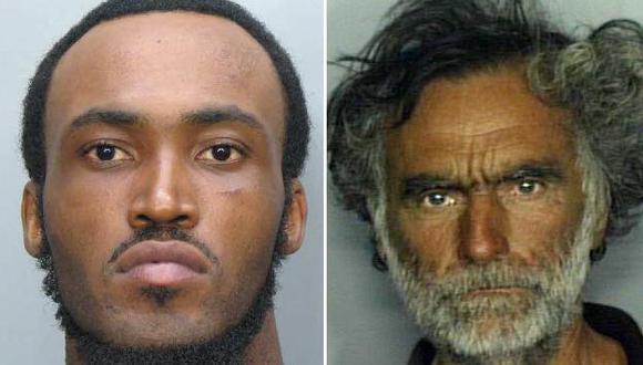 Rostros del atacante y su víctima. (AP)
