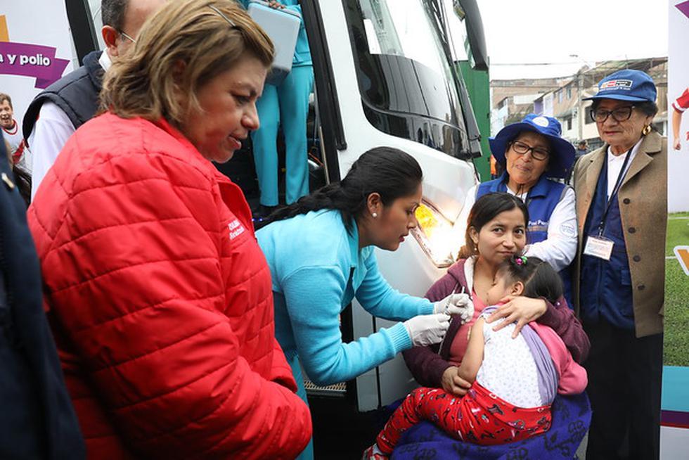 El Ministerio de Salud informó que hasta la fecha se han inmunizado a 3 millones 200 mil menores de 11 años en la Vacunación Nacional contra el Sarampión, Rubeola y Polio. (Foto: Minsa)