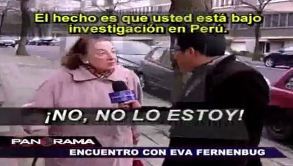 Eva Fernenbug afirmó que no es investigada por el caso Ecoteva. (Panorama/Panamericana Televisión)