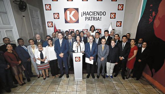 KEIKO FUJIMORI LIDER DEL PARTIDO FUERZA POPULAR GESTICULA DURANTE UNA CONFERENCIA DE PRENSA EN LA SEDE PARTIDARIA EN AV PASEO COLON.