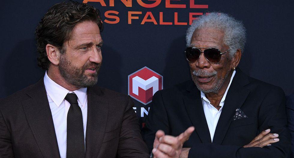 Gerard Butler aseguró que le gustaría ver a Morgan Freeman como presidente de Estados Unidos. (Foto: AFP)