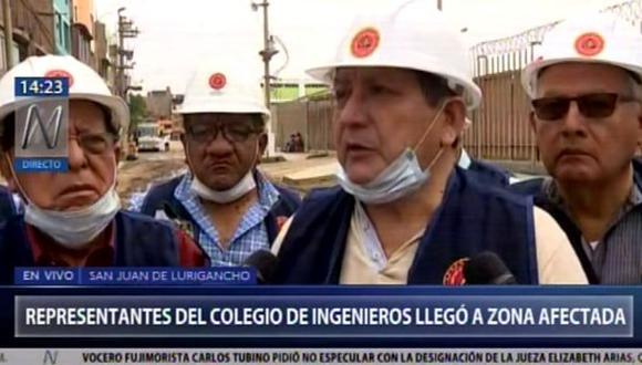 Comisión del Colegio de Ingenieros en SJL. (Foto: Canal N)