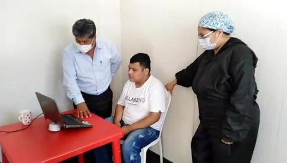 Reos del penal de Piura tuvieron visita virtual con familiares por buena conducta (Foto: INPE)