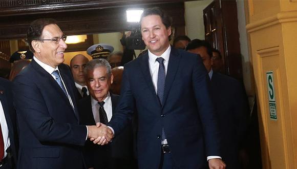 Martín Vizcarra y Daniel Salaverry se reunieron en Palacio de Gobierno. (Foto: Agencia Andina)