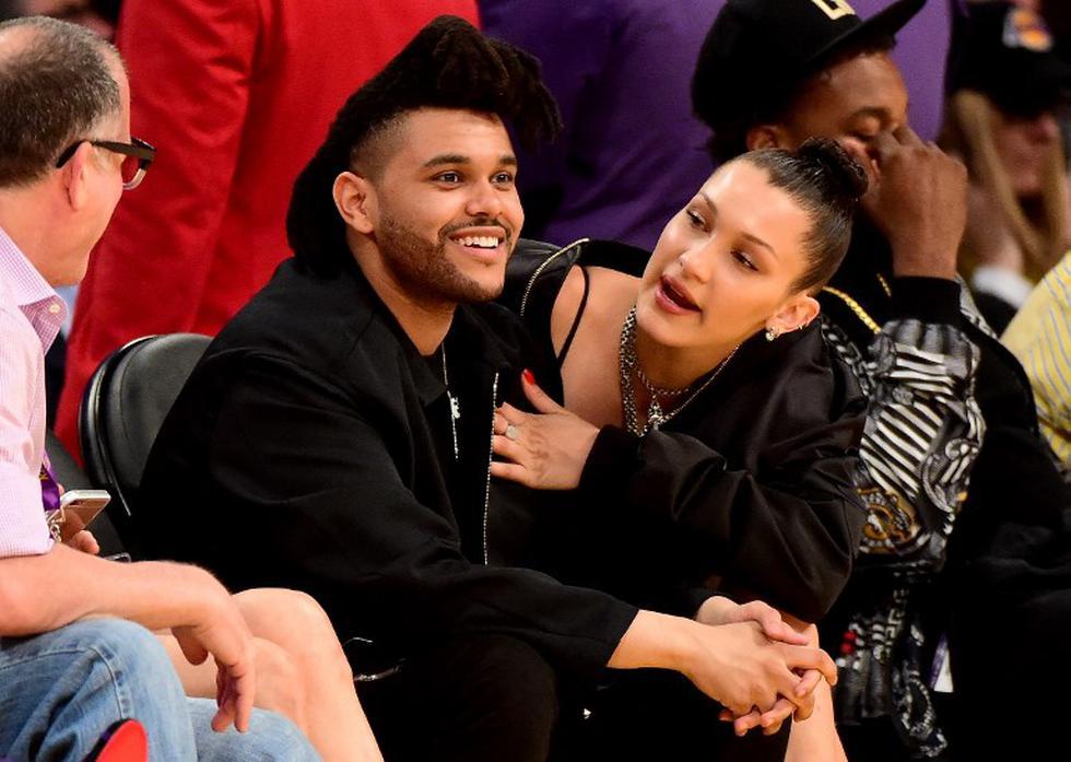 The Weeknd y Bella Hadid   AFP