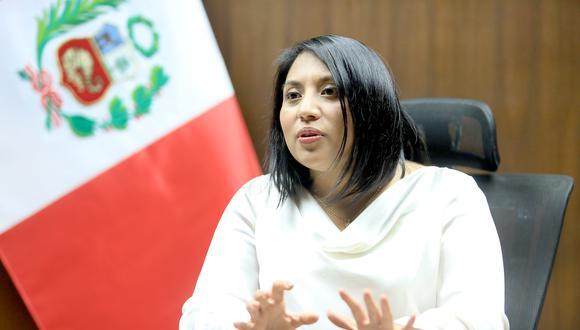 La titular del Ministerio de Justicia y Derechos Humanos aseveró que se evalúan qué medidas adoptar ante nueva moción de vacancia contra el presidente Martín Vizcarra. (Foto: Minjus)