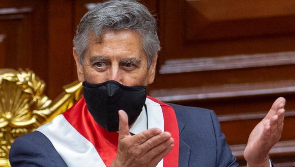 """""""No nos parece una prioridad inmediata"""", dijo Sagasti sobre la posibilidad de apoyar a realizar un referéndum o un cambio de la actual constitución peruana. (Foto: Presidencia)"""