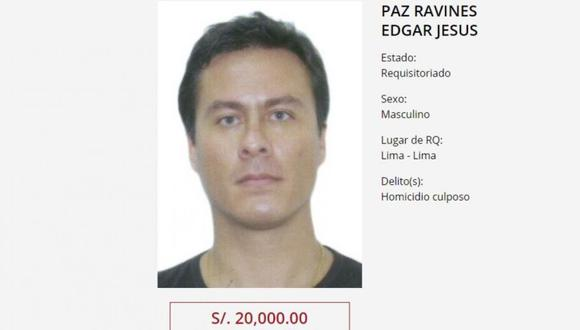 Edgar Paz Ravines fue detenido en México. (Ministerio del Interior)