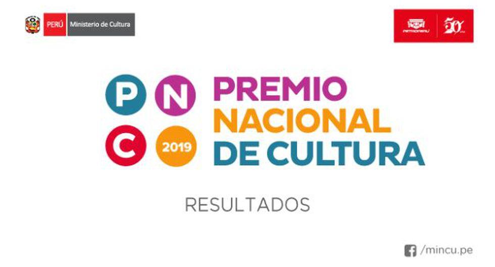 Conoce a los ganadores del Premio Nacional de Cultura 2019. (Foto: Ministerio de cultura)