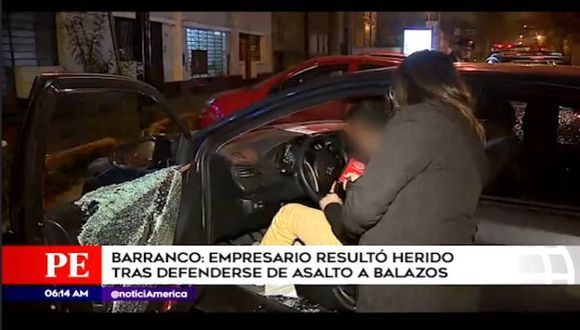 Tras la balacera, el herido fue trasladado hasta una clínica local. (Captura: América Noticias)