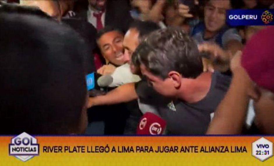 Así fue la llegada de River Plate a Lima. (Foto: Captura Gol Perú)
