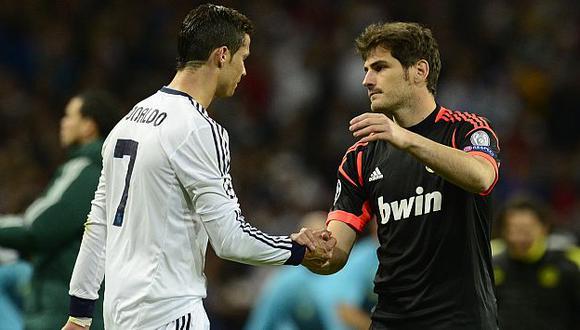 Iker Casillas mostró su apoyo a Cristiano Ronaldo. (AFP)